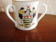 COLLECTABLE VINTAGE GEMMA CRESTED WARE SMALL LOVING CUP BLACKPOOL